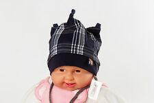 Baby Kinder Mütze Jungen Herbst* 2 Größen * dunkelblau/weiß