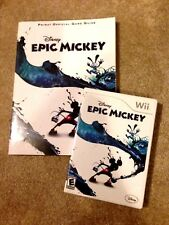 Disney Epic Mickey Game & Official Prima Guide Nintendo Wii *EXCELLENT*