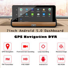 7'' 3G 1080P Voiture DVR double Lentilles GPS Android 5.1 Rétroviseur Camera
