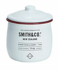 NEW THE AROMATHERAPY CO SMITH & CO CANDLE WINTER VIOLET & CHERRY 300G SCENTED