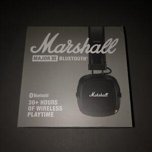 New Marshall Major 3 III Bluetooth Headphones NIB Wireless Noise Canceling Rap