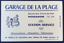 Buvard Garage de la Plage Station-service / Mogador / Blotter
