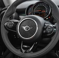 Mini Cooper Steering Wheel Sticker Decal Badge Emblem F55 F56 F60 Carbon