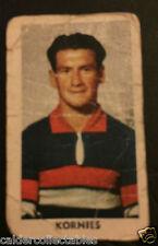 1949 KORNIES VICTORIAN FOOTBALLERS CARD TIM ROBB FOOTSCRAY CARD # 81 VFL