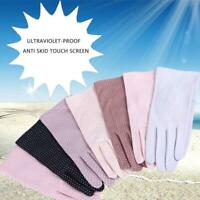 Cotton Blend Women's Fashion Summer Gloves Anti-skid Sun Protection Phone Screen