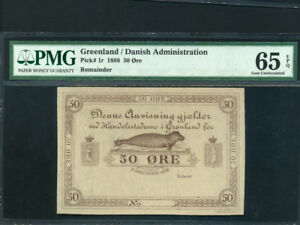 Greenland:P-1r,50 Ore,1875 * Danish Administration * Remainder * PMG Gem UNC 65