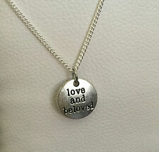 COLLIER PENDENTIF ST VALENTIN MEDAILLE LOVE AND BE LOVED