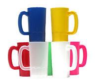 7 Small 14 oz Kid's Plastic Mugs Mix of Colors Mfg USA Dishwasher Safe Top Shelf