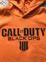 Call Of Duty Black Ops Hoody Sweatshirt Size Large L Gorgeous Bright Orange