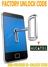 UNLOCK CODE FOR ALCATEL One Touch AT&T Ideal 4060A AT&T USA