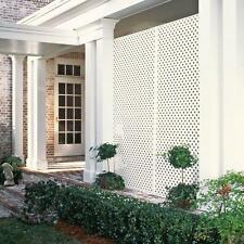 White Vinyl Garden Privacy Diamond Lattice Outdoor Decorative Panel Screen Patio