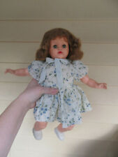 "Vintage rubber baby girl 15"" doll"