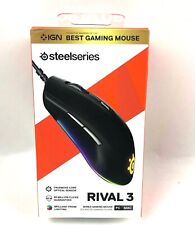 STEELSERIES Rival 3 Wired Gaming Mouse PC MAC Right Handed Black Matte Finish