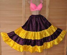 SP 14 - Large sweeping silky soft satin petticoat skirt, BN,  purple & yellow