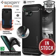 Spigen HTC U11 Rugged Armor Black Shockproof Protective Slim TPU Case Cover