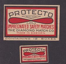Ancienne  étiquette  allumettes Suède  BN19567 Protecto