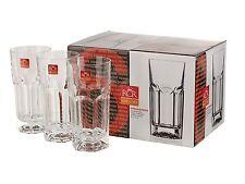 Set of 6 RCR Crystal Provenza Hi-ball Glass --Gift Presentation Box
