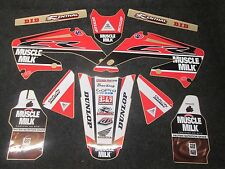 Honda CR125 CR250 2002-2007 Muscle Milk Team USA graphics + plastics GR1524