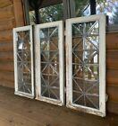 Antique Vintage Leaded Bent Outwards Window Glass