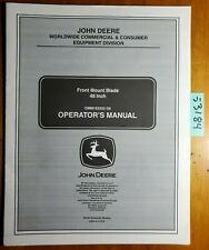 John Deere 48 Front Blade Sn 10001 For X500 Multi Terrain Tractor Manual 705