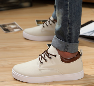Men's Fashion Sneakers Casual Canvas 3cm Elevator Height Increasing Shoes US7-13