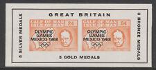 IOM Pantorrilla De Man 6024 - 1968 Juegos Olímpicos & Churchill M/Hoja de Menta desmontado