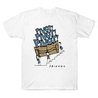 Pivot Pivot Pivot Friends Tv Show White Cotton Men's T-Shirt Funny Cotton Tee