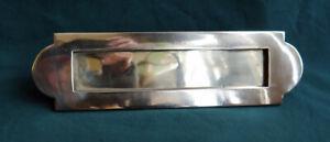 Good Quality Antique Art Deco Bronze Letter Box Plate / Mail Slot / Mailbox