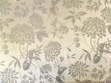 LORIENT DIDI IVORY CURTAIN UPHOLSTERY PRINTED VELVET FABRIC PER METRE