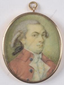 """Portrait of a wigged gentleman"", English miniature, 1780s"