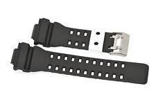 16MM BLACK WHITE RUBBER WATCH BAND CASIO GSHOCK GA300 GA100 GW8900 GA120 GD110