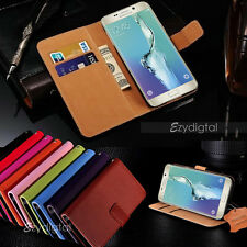 Colorful Genuine Real Leather Wallet Case For Samsung Galaxy S6 Edge Plus +