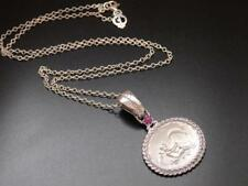 Sterling Silver Natural Ruby Fine Necklaces & Pendants