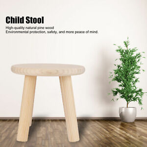 Round Wood Color Wood Stools Small Bench Child Seat DIY Furniture Stool Home