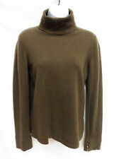 LORO PIANA Italy Womens Brown Cashmere Turtleneck Pullover Sweater 46 S M