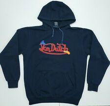 VTG Von Dutch Hoodie Sweatshirt Sz L Navy Blue Kangaroo Pockets Hooded Jumper