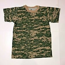 Kid's Large Short Sleeve T-Shirt Military Camouflage tshirt camo by Rothco