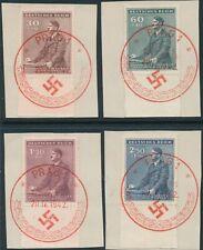 Stamp Germany Bohemia Czechoslovakia Mi 085-8 Sc B9-12 1942 WWII AH FDC