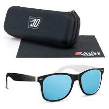 Jim Dale Nerd Sonnenbrille Damen Herren Schwarz Weiss Blau verspiegelt UV400
