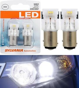 Sylvania Premium LED Light 1157 White 6000K Two Bulbs Front Turn Signal Replace
