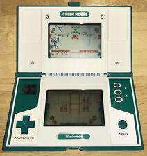 1982 Nintendo GREEN HOUSE GAME & WATCH Dual Screen RARE LCD Game WORKING! NICE!
