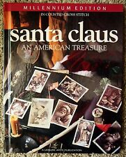 Leisure Arts CHRISTMAS Cross Stitch Book SANTA CLAUS AN AMERICAN TREASURE HC