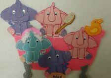 FELT BOARD STORY TEACHER RESOURCE - 5 FIVE ELEPHANTS IN A BATH TUB
