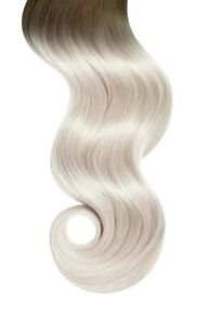 "20"" Glam Seamless Remy Tape-In Hair Extensions - Brown to Ash Blonde (2A/60) NEW"