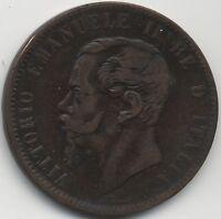 1867 T Italy Vitorio Emanuele II 10 Centesimi | Pennies2Pounds