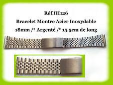 BRACELET MONTRE ACIER INOXYDABLE //* BICOLORE //* 18mm REF.IH242