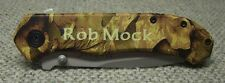 Personalized Camo Liner Lock Knife