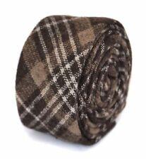 Accessoires cravates marrons pour homme en 100% laine