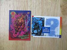 1993 MARVEL UNIVERSE IV WOLVERINE ORIGIN CARD SIGNED GEORGE PEREZ ART, WITH POA