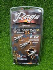 Rage Crossbow Hypodermic NC Broadheads, 2-Blade 125 Grain, (3-PACK) - R38400